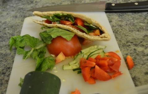 Veggie Pita with Grapeseed Mayo