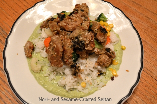 Nori and Sesame Crusted Seitan