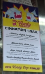 Cinnamon Snail Menu