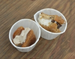 Almond Marzipan and Salted Peanut Butter vegan and gluten free ice cream sandwiches