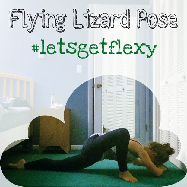 Flying Lizard Pose. Uttana Prasithasana.