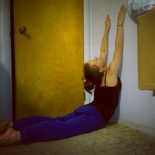 Yoga wall stretch