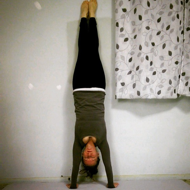 Day 3: 1 Minute Wall Handstand (x3)